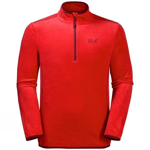 Jack Wolfskin Mens Echo 1/2 Zip Fleece Fiery Red