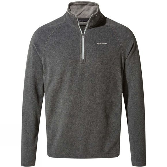 Craghoppers Mens Corey Half Zip Fleece Black Pepper Marl