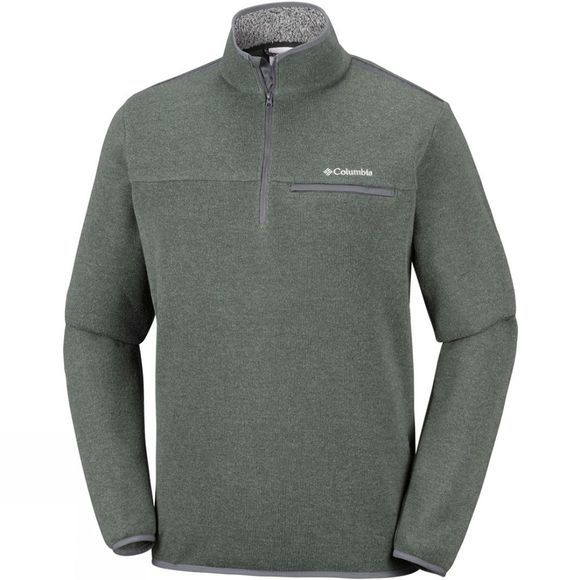 Columbia Mens Terpin Point III Half Zip Fleece Mosstone