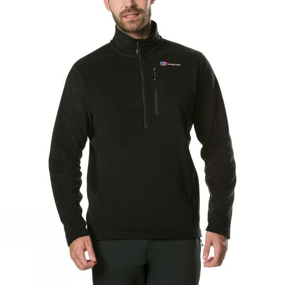 Berghaus Mens Prism Micro PT Half Zip Fleece Black/Black
