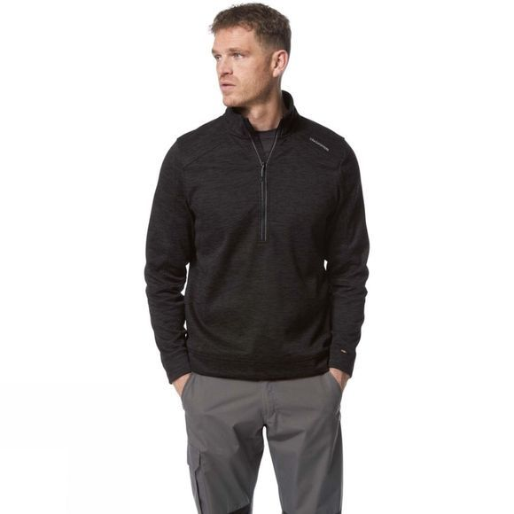 Craghoppers Mens Strata Half Zip Black