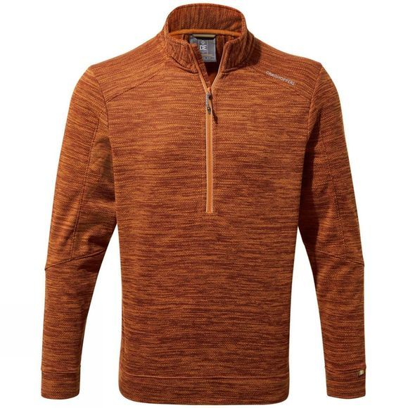 Craghoppers Mens Strata Half Zip Terracota