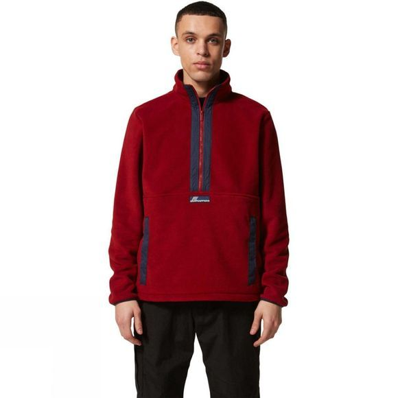 Craghoppers Mens Ashfield Half Zip Fleece Firth Red