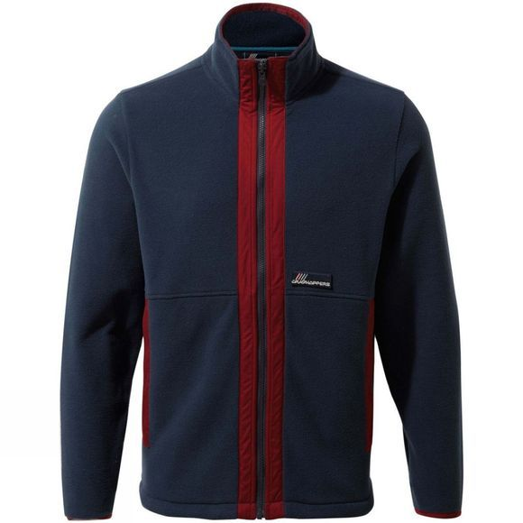 Craghoppers Mens Ashfield Full Zip Fleece Mid Navy / Firth Red