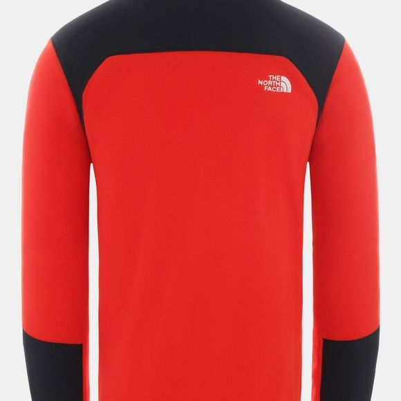 The North Face Mens Glacier Pro 1/4 Zip Fleece Fiery Red/TNF Black