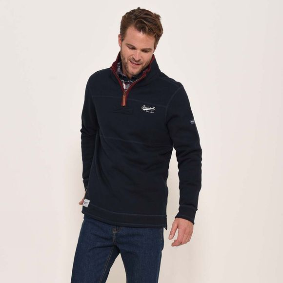 Brakeburn Zip neck sweat Navy