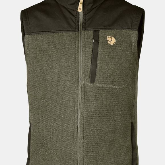 Mens Buck Fleece Vest