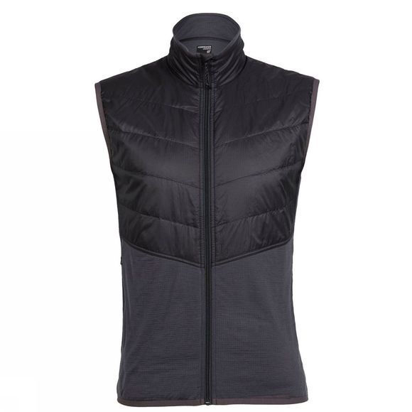 Icebreaker Mens MerinoLoft Ellipse Vest Monsoon/Black/Black