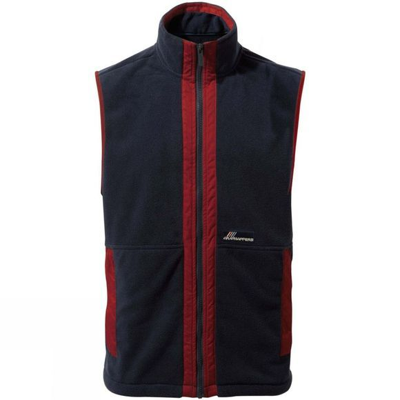 Craghoppers Mens Bagshaw Vest Mid Navy / Firth Red