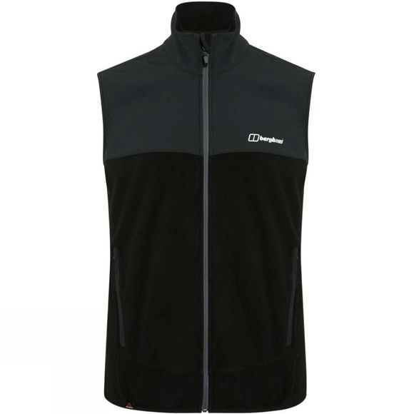 Berghaus Mens Kyberg Polartec Fleece Vest Black/Black