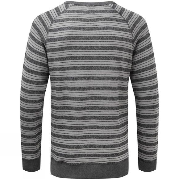 Reef Mens Rowstripe Crew Top Black/Heather