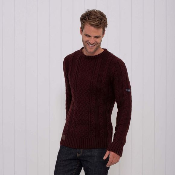 Mens Knitted Cable Jumper