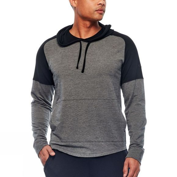 Icebreaker Mens Momentum Long Sleeve Hoody Midnight Navy/ Snow Heather