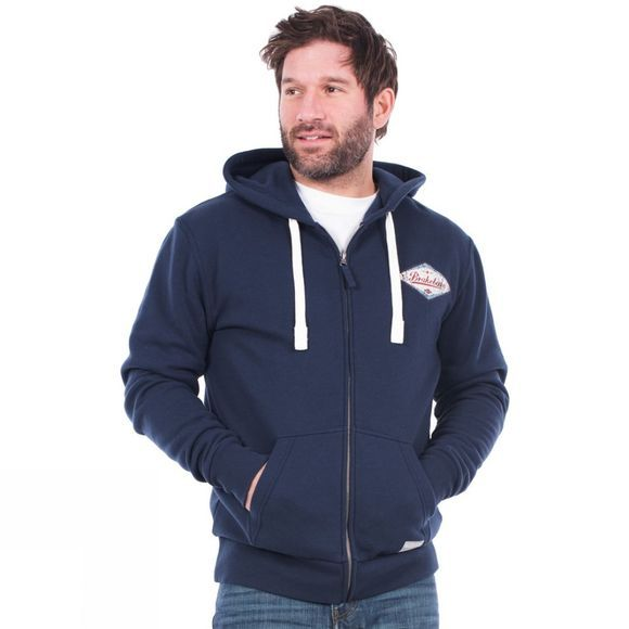 Brakeburn Mens Vintage Diamond Zip Hoody Navy