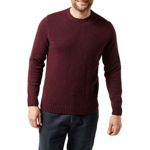 Craghoppers Mens Noa Waffle Knit Jumper Dark Wine