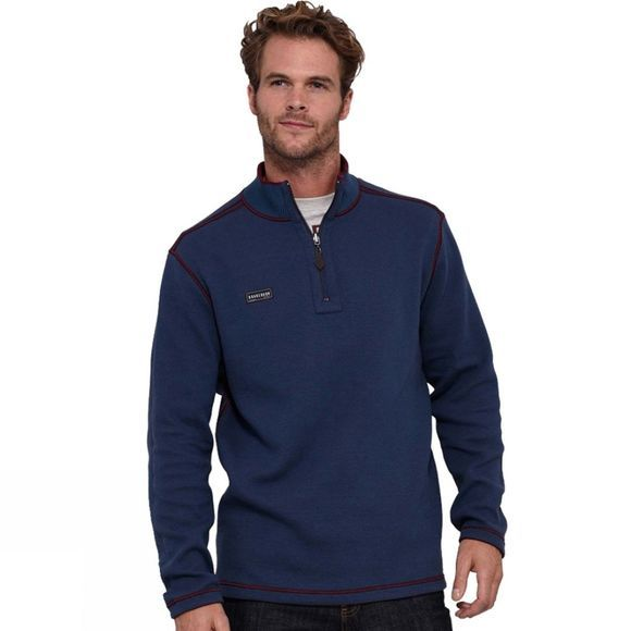 Brakeburn Mens Reversible Knit Sweater Navy