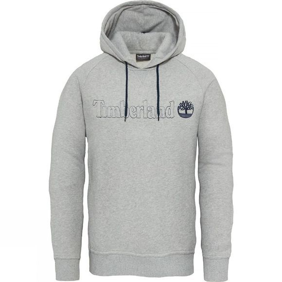 Timberland Mens Westfield River Brand Hoodie  Medium Grey Heather