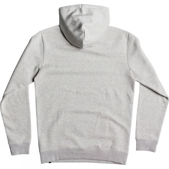 Quiksilver Mens Big Logo Hoodie Light Grey Heather
