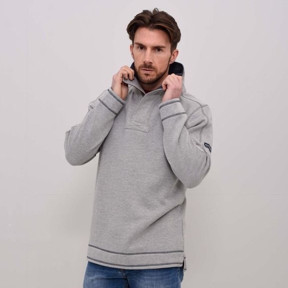 Mens Button Neck Hoody