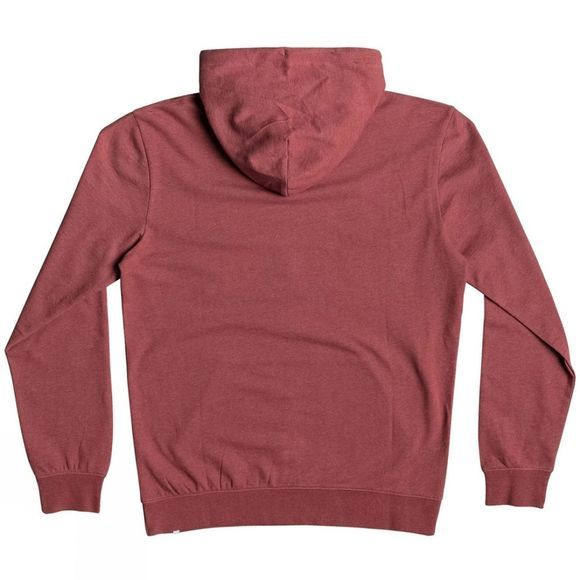 Quiksilver Mens Big Logo Hoodie Brick Red Heather
