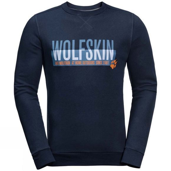 Jack Wolfskin Mens Slogan Sweatshirt Night Blue