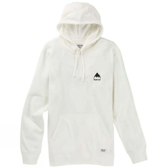 Burton Mens Mountain Pullover Hoodie Stout White