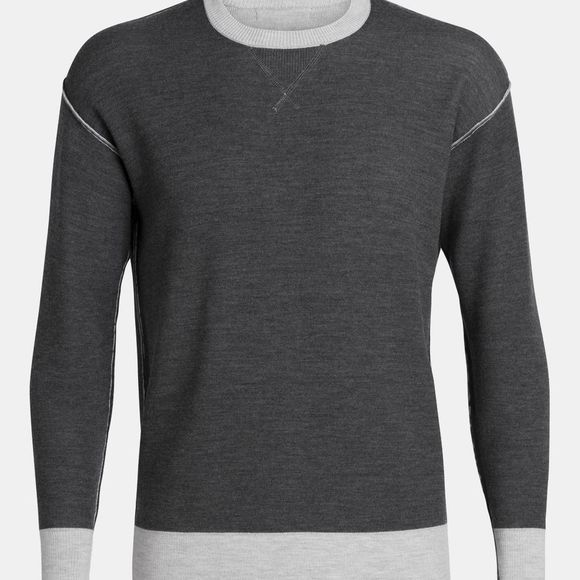Icebreaker Mens Carrigan  Sweater Sweatshirt Steel Heather