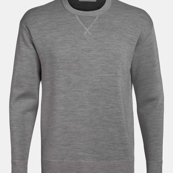 Icebreaker Mens Nova Sweater Sweatshirt Gritstone Heather
