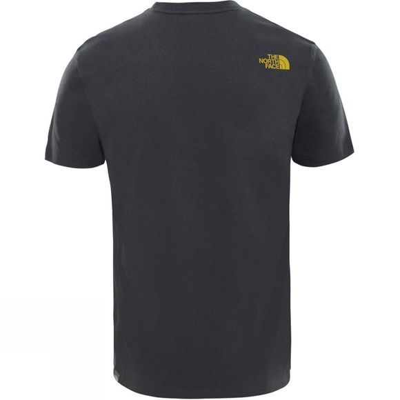 The North Face Mens Mountain Line Tee Asphalt Grey/Leopard Yellow