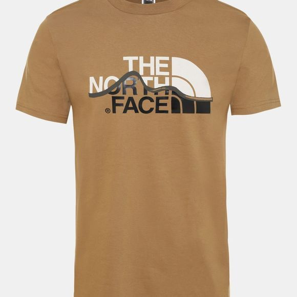 The North Face Mens Mountain Line Tee British Khaki