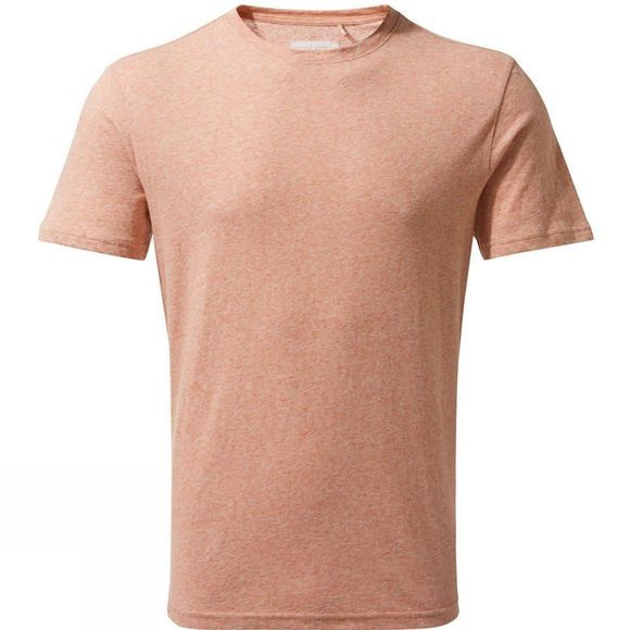 Craghoppers Mens Bernard Short Sleeve T-Shirt Red Ochre Stripe