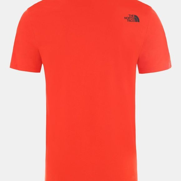 The North Face Mens Short Sleeve Easy Tee Fiery Red/TNF Black