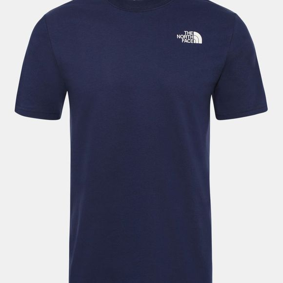 The North Face Mens Short Sleeve Red Box Tee Montague Blue