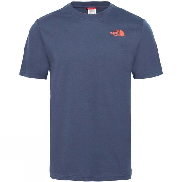 The North Face Mens Short Sleeve Red Box Tee Urban Navy/Fiery Red