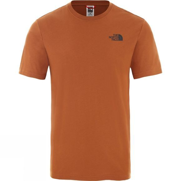 The North Face Mens Short Sleeve Red Box Tee Caramel Cafe