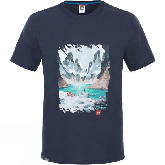 Mens Short Sleeve Never Stop Exploring Series Tee