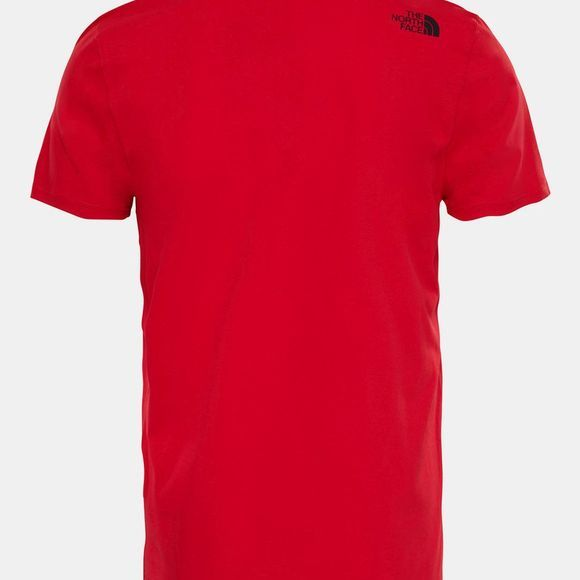 The North Face Mens Short Sleeve Simple Dome Tee TNF Red