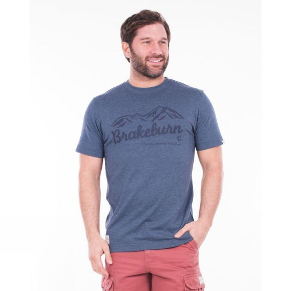Brakeburn Mens Classic Mountains Tee Blue