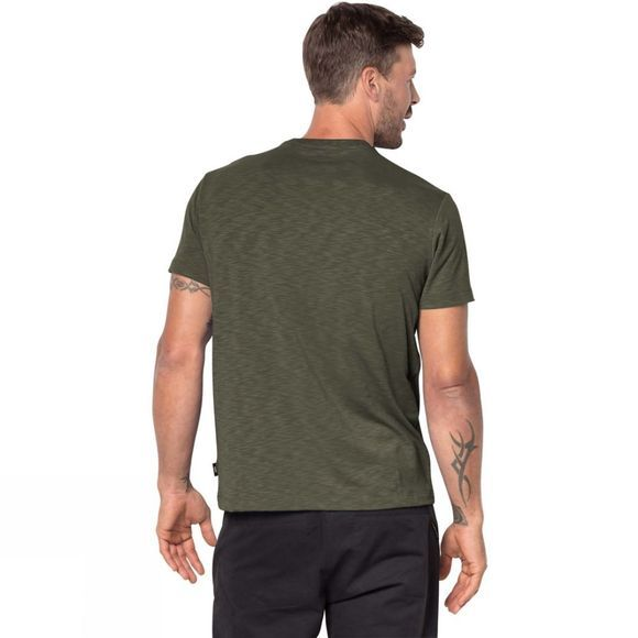 Jack Wolfskin Mens Travel Tee Woodland Green