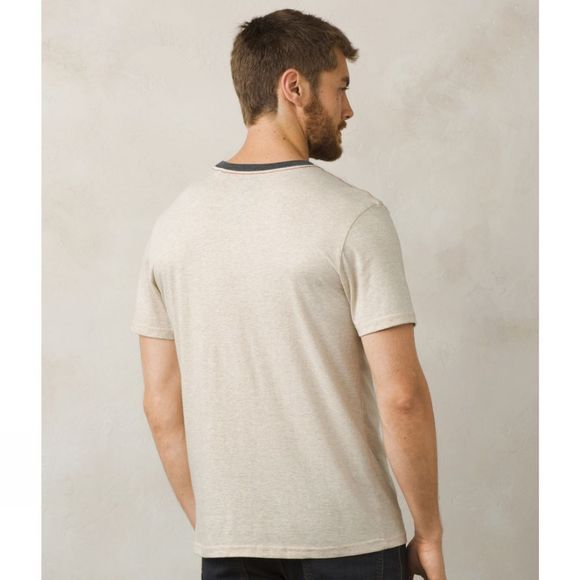 PrAna Mens Farm To Table Ringer Tee Stone