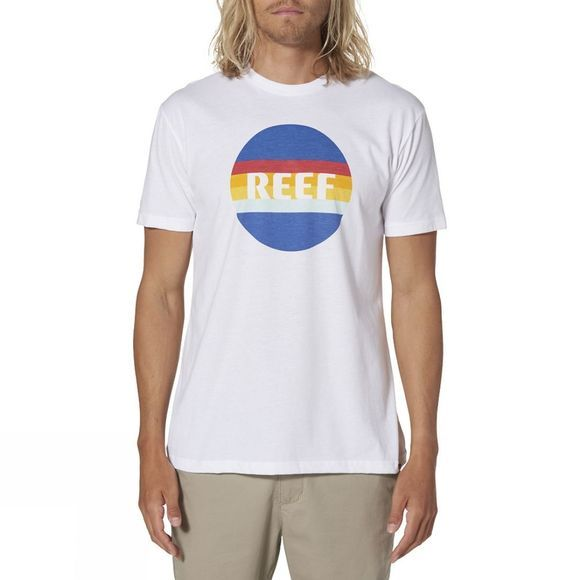 Reef Mens Simple Tee White