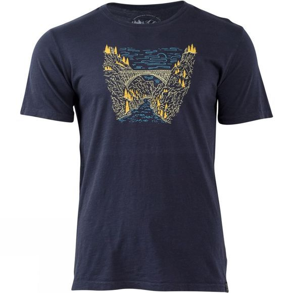 United By Blue Mens Bridge Mountain T-Shirt Navy