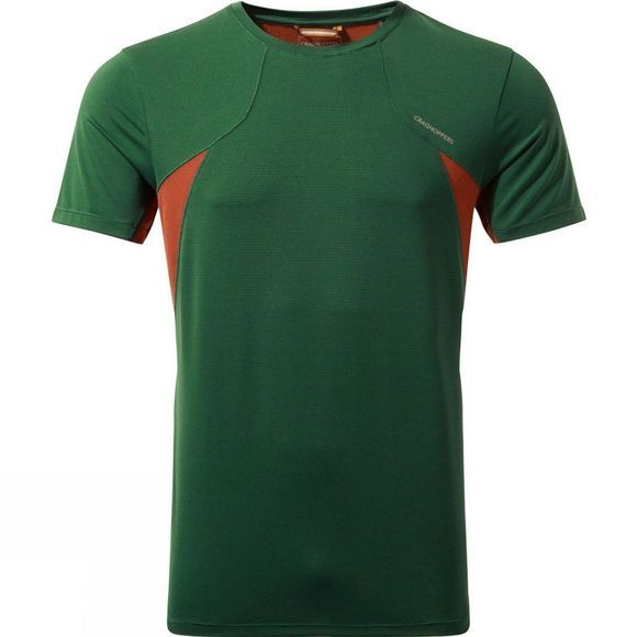 Craghoppers Mens Fusion Short Sleeve T-Shirt Mountain Green