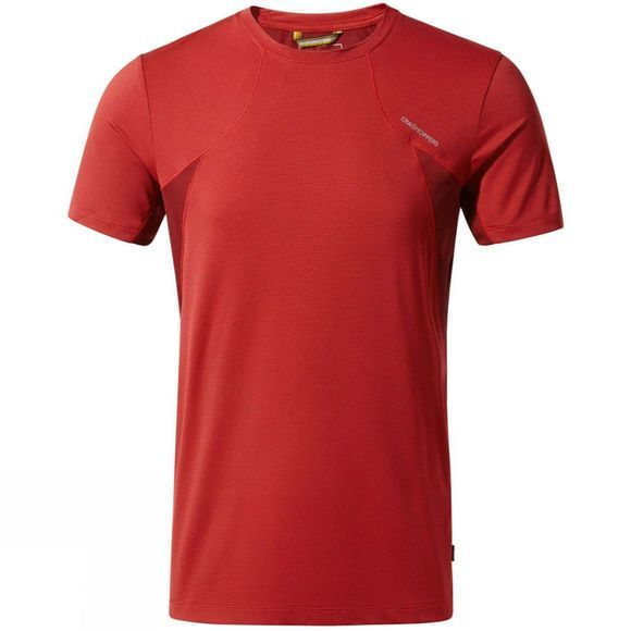 Craghoppers Mens Fusion Short Sleeve T-Shirt Firth Red