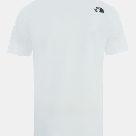 The North Face Mens Short Sleeve NSE Tee TNF White/TNF Red