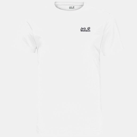 Jack Wolfskin Mens Essential Tee White Rush