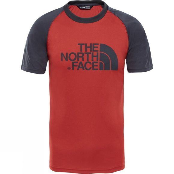 The North Face Mc Short Sleeve Raglan Tee Asphalt Grey/Bossa Nova Red