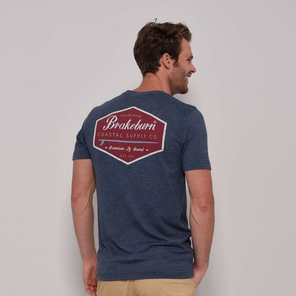 Brakeburn Mens Coastal Supply Co Tee Blue