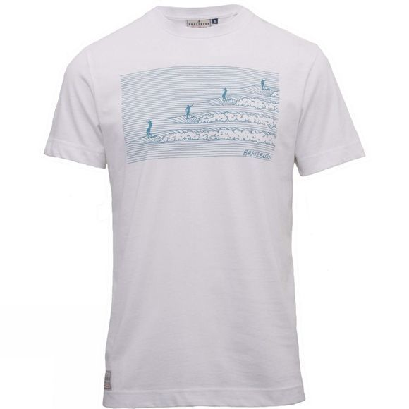 Brakeburn Mens Hang Ten Tee White