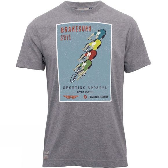 Brakeburn Mens Peleton Tee Light Grey Marl